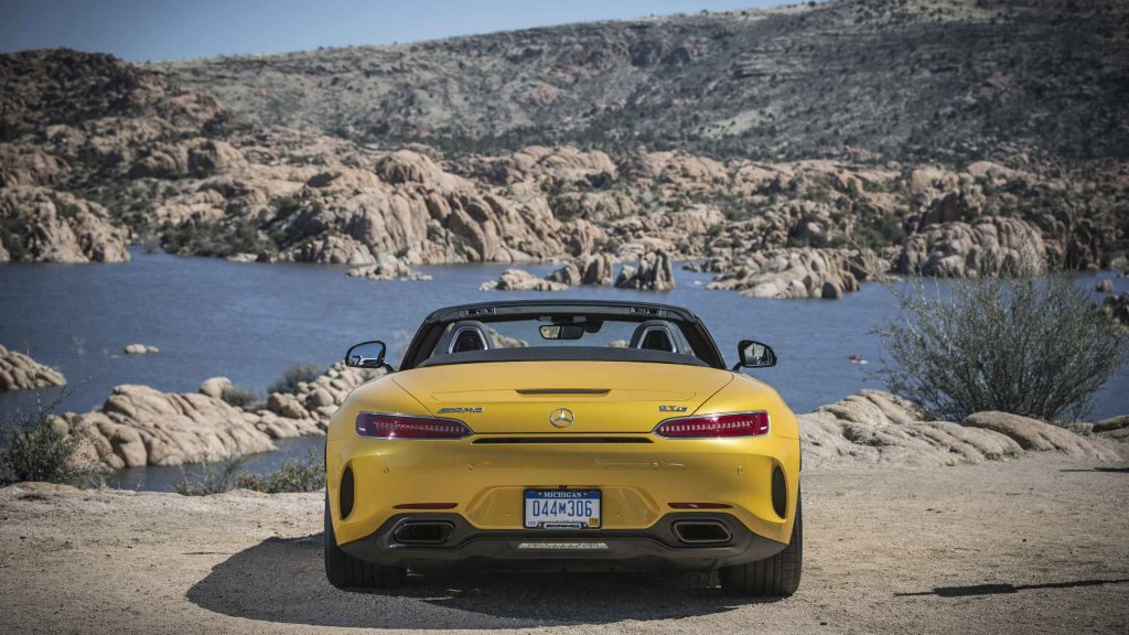 2017-mercedes-amg-gt-c-roadster-first-drive yellow back