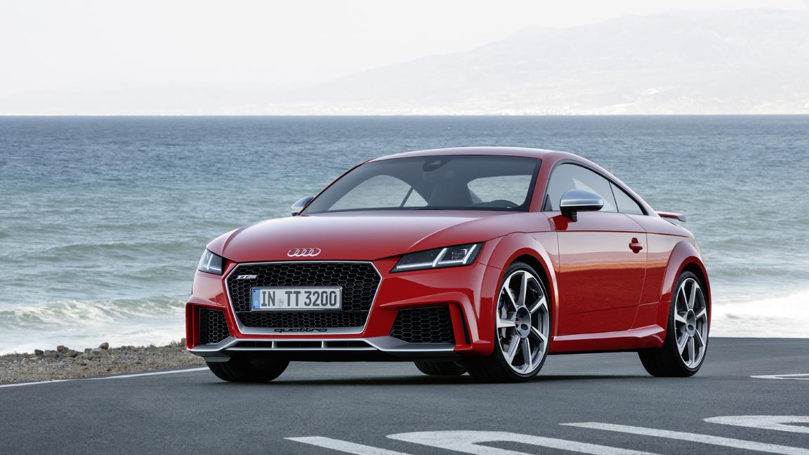 Audi yeni TT RS'i Pekin'de gösterdi.