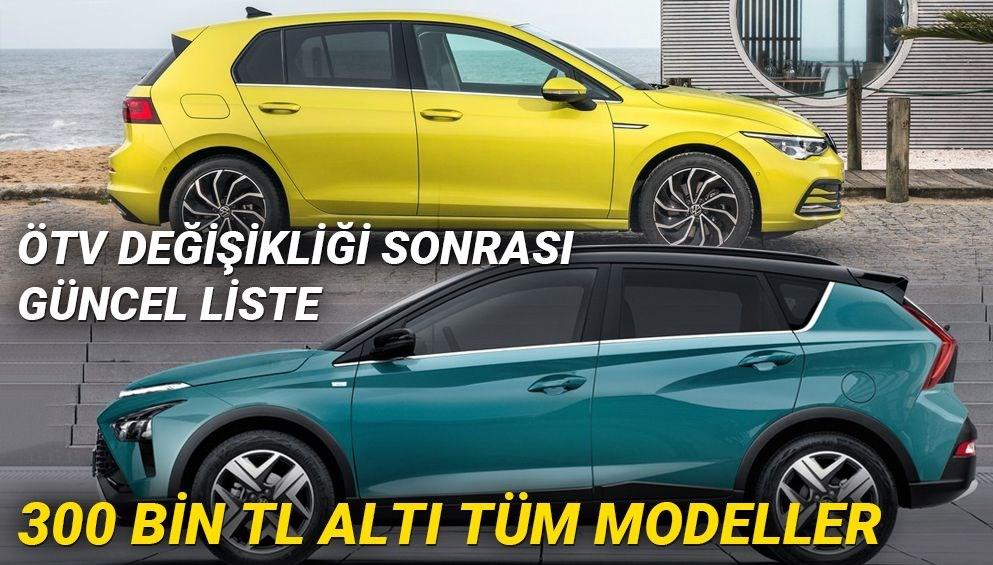 ÖTV değişikliği Resmi Gazete'de (Türkiye'de 2021 yılında satılan en ucuz sıfır otomobiller)