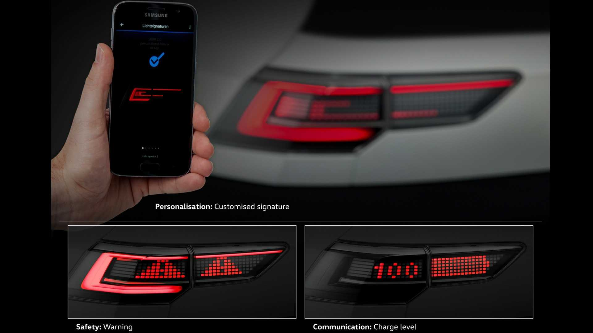 Volkswagen Golf 8'in LED'li arka far tasarımı